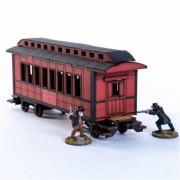 19th C. American Passenger Car (Red)