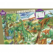 Puzzle Observation - Dinosaures + Poster + Livret - 100 pièces