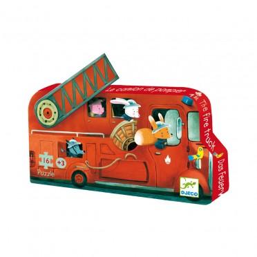 Puzzle Silhouette - Le Camion de Pompier