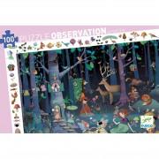 Puzzle Observation - La Forêt Enchantée : 100 pièces