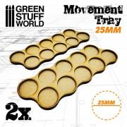 MDF Movement Trays 10 x 25mm