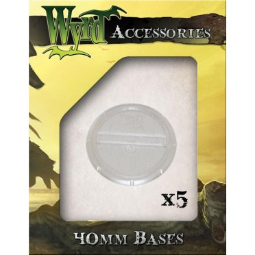 Wyrdscape Bases - 5x Clear Bases 40mm