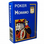 Jeu de 54 cartes Modiano format poker - Bleu clair