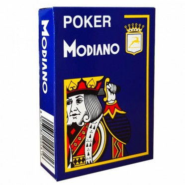 Jeu de 54 cartes Modiano format poker - Bleu foncé