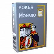 Jeu de 54 cartes Modiano format poker - Gris