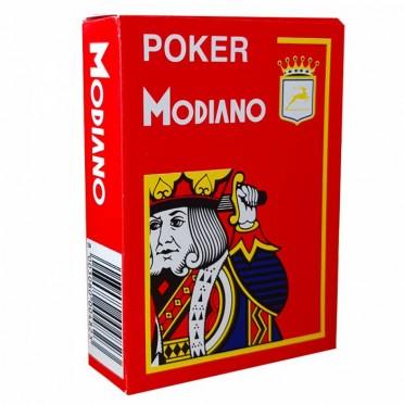 Jeu de 54 cartes Modiano format poker - Rouge