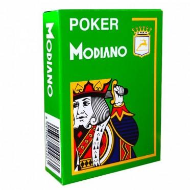 Jeu de 54 cartes Modiano format poker - Vert clair