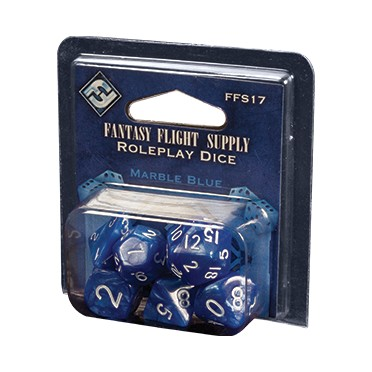 Roleplay Dice - Marble Blue