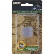 WizKids Deep Cuts Unpainted Miniatures : Clear 25mm Round Base (15 ct)