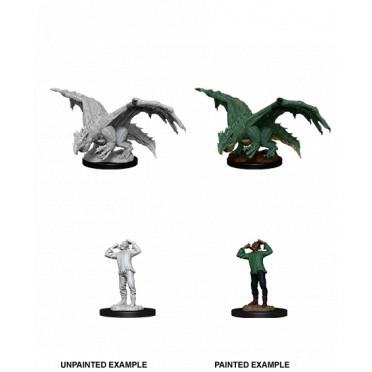 D&D Nolzur's Marvelous : Green Dragon Wyrmling & Afflicted Elf