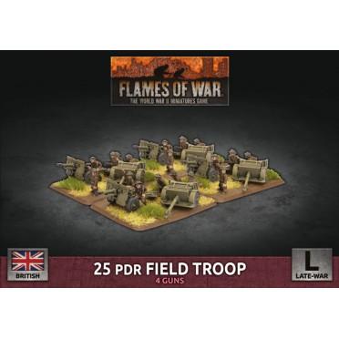 Flames of War - British - 25 pdr Field Troop