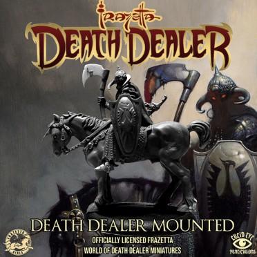 Frazetta Official Collectible Miniature: Death Dealer Mounted