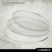 Clear Plexi Bases: Oval 170x105mm (3)