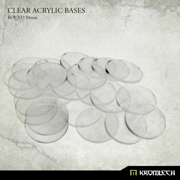 Clear Plexi Bases: Round 20mm (50)