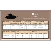 Battlegroup French, Polish, Hungarian, Romanian  Datacards