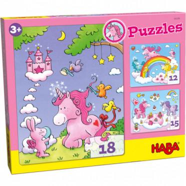 Puzzles - Licornes dans les Nuages