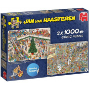 Puzzle - Jan van Haasteren - Holiday Shopping - 2x 1000 pièces