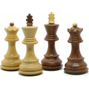 "Pièces échecs Russian ""Zagreb"" Buis/Acacia n°3"