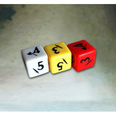 Alkemy - Pack of 3 Engraved Dices