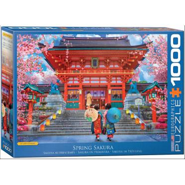 Puzzle - Sakura Au Printemps - 1000 Pièces