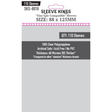 """Sleeve Kings - """"Tiny Epic Compatible"""" - 88x125mm - 110p"""