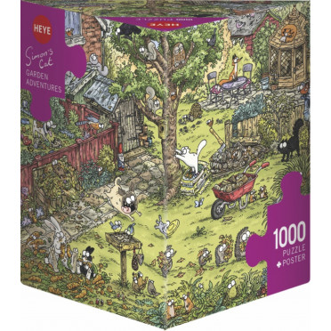 Puzzle - Garden Adventures de Simon Tofield – 1000 Pièce
