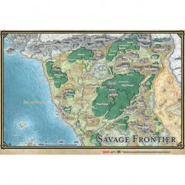 D&D - Savage Frontier Map