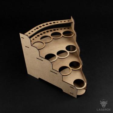 Modular Paint Rack LaserOx - 35mm 45° (Corner)