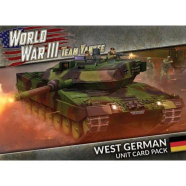 Team Yankee - West German Unit Cards