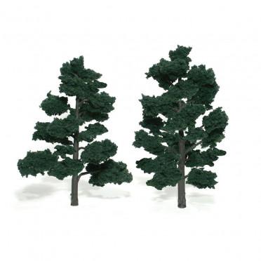 Woodland Scenics - Arbres à feuilles - Dark Green : 15-18 cm
