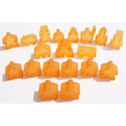 Carcassonne - Set de 19 Meeples- Frozen Orange