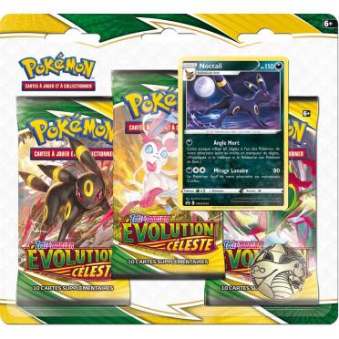 Pokémon EB07 : Evolution Céleste - Pack 3 Boosters Noctali