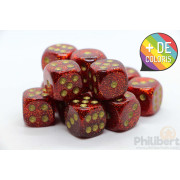 Set of 12 6-sided dice Chessex : Glitter