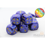 Set of 12 6-sided dice Chessex : Lustrous
