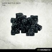 Mini Battle Dice 100x Black 7mm
