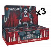 Magic The Gathering : Innistrad : Noce Ecarlate - Lot de 3 Boites de 30 Boosters d'Extension
